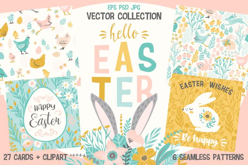 hello-easter-vector-collection
