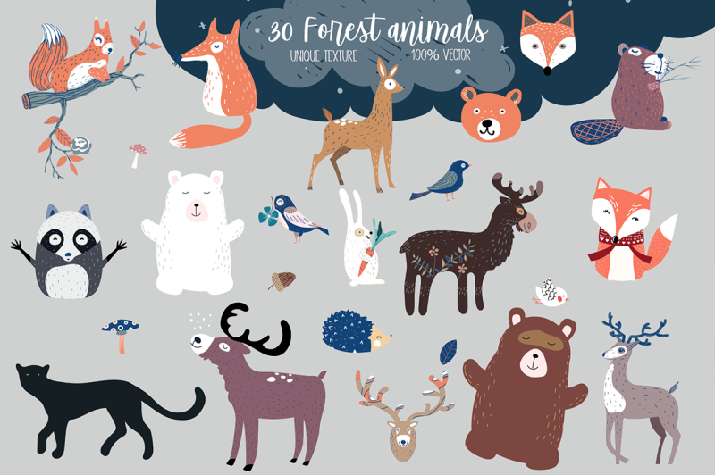 forest-friends-patterns-cards-illustrations-elements