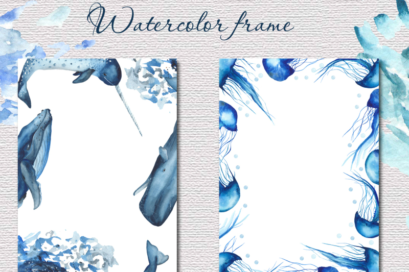 blue-ocean-mammals-watercolor-collection