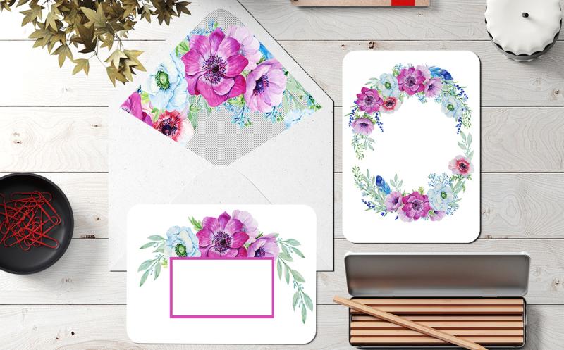 watercolor-bouquet-anemones
