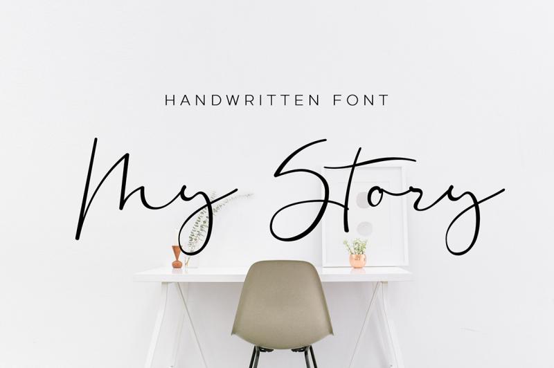 my-story-script-font