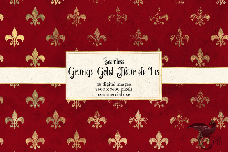 grunge-gold-fleur-de-lis-digital-paper