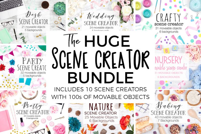 Free Huge Scene Creator Bundle (PSD Mockups)