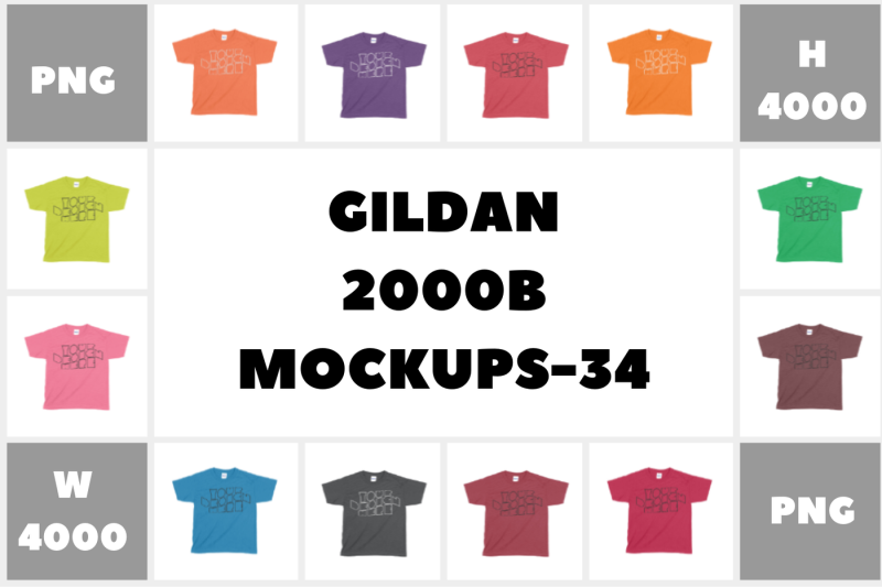 Free MEGA BUNDLE Gildan 2000B Ultra Youth T-shirt Mockups - 34 (PSD Mockups)
