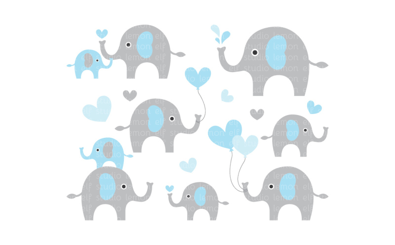 cute-elephants-digital-clipart-les-cl10a