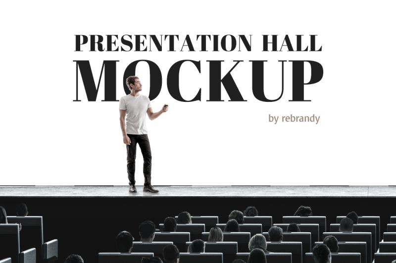 Free Presentation Hall Mockup (PSD Mockups)