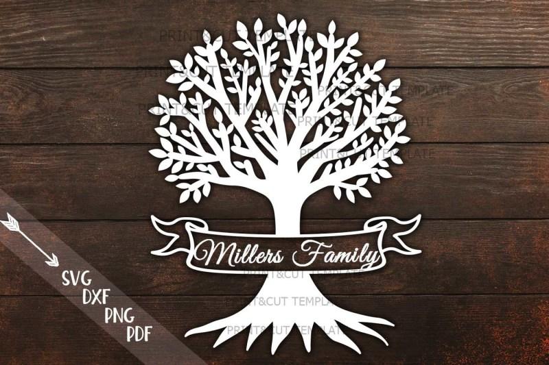 family-tree-ribbon-split-monogram-machine-laser-cut-file-svg-dxf-pdf