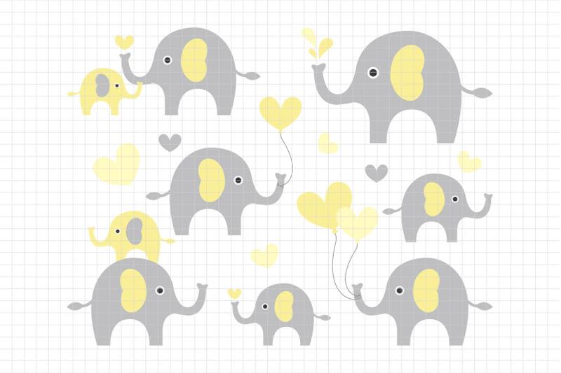 cute-elephants-digital-clipart-les-cl10c