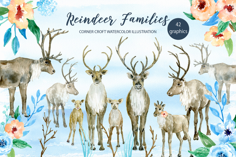 watercolor-clipart-watercolor-reindeer-family-for-instant-download