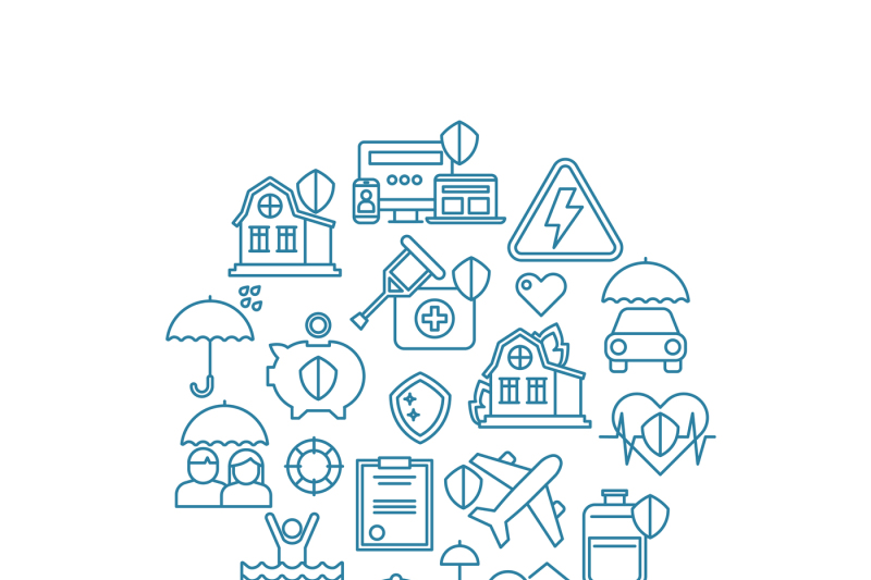 insurance-home-and-property-line-vector-icons-in-circle-design