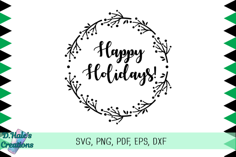 happy-holidays-svg-png-pdf-eps-dxf-psd