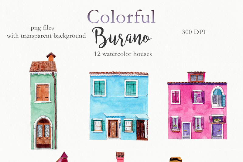 watercolor-burano-houses-and-cats