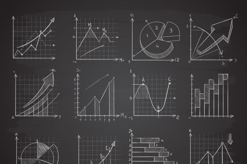 hand-drawing-business-statistics-data-graphs-social-charts-chalk-dia