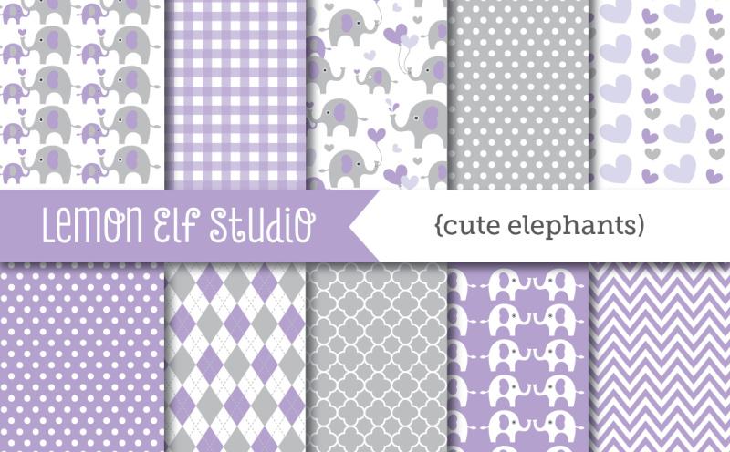 cute-elephants-digital-paper-les-dp10d