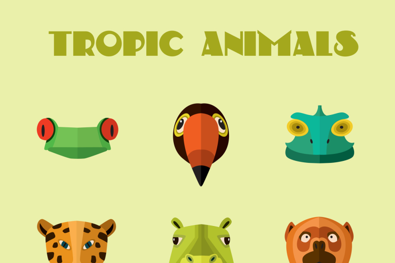 vector-illustration-of-tropical-animals-monkey-jaguar-and-other