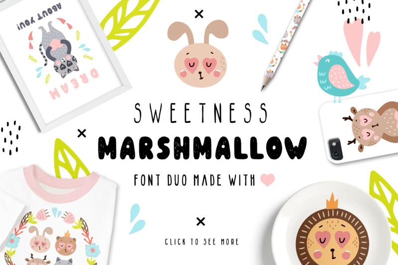 sweetness-marshmallow-font-duo