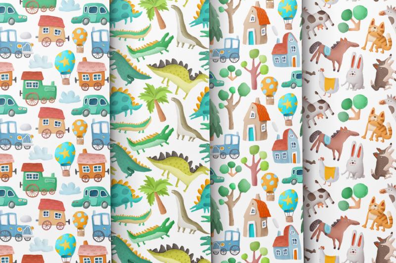 kids-clipart-patterns