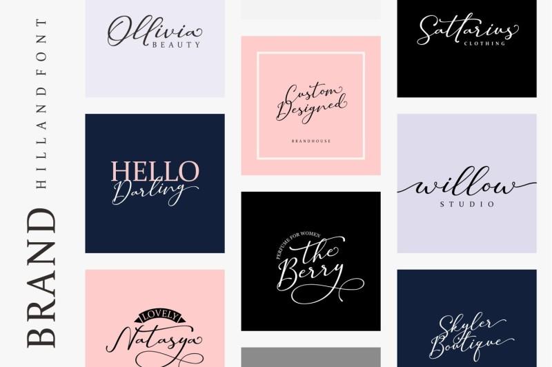 hilland-signature-font