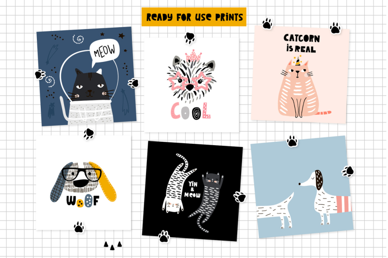 cats-and-dogs-graphic-collection