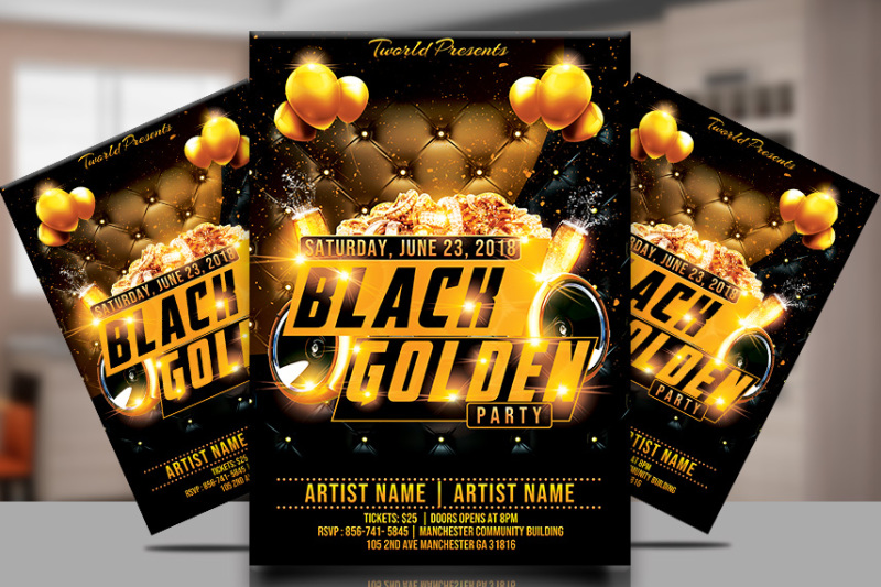 black-and-gold-party-flyer-template