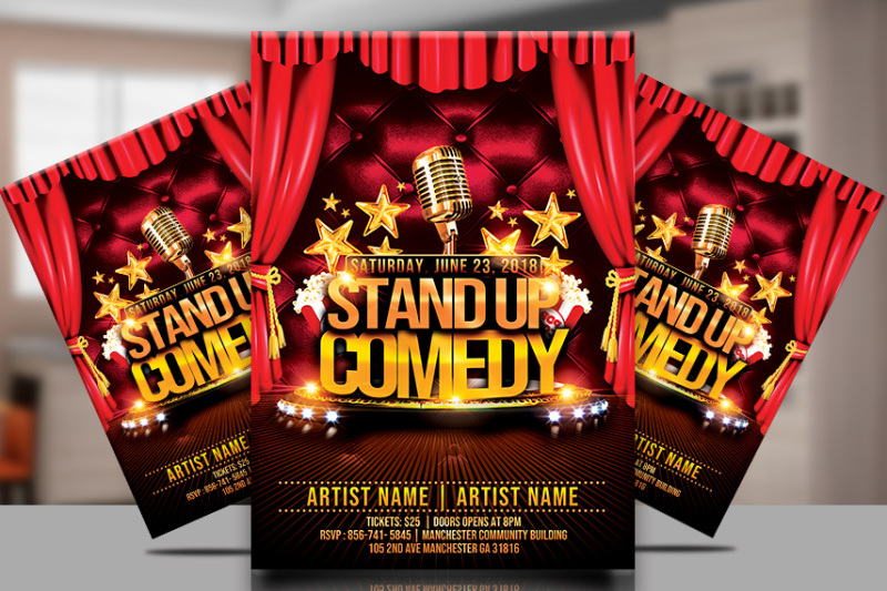 stand-up-comedy-flyer-template