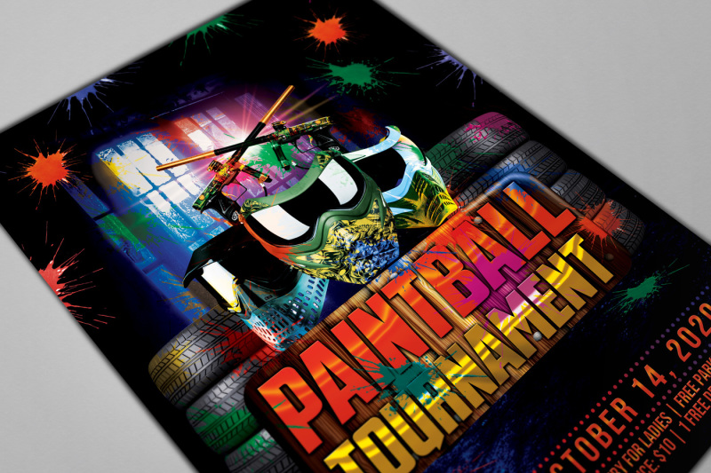 paintball-game-party-flyer-template