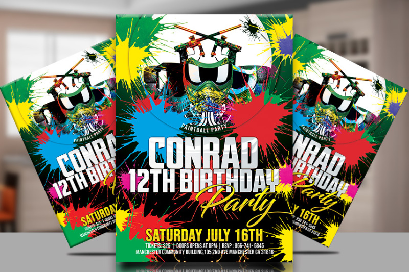 paintball-party-poster-template
