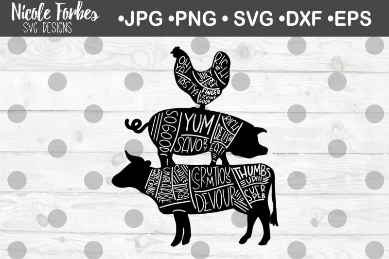 cow-pig-chicken-tasty-words-svg-cut-file