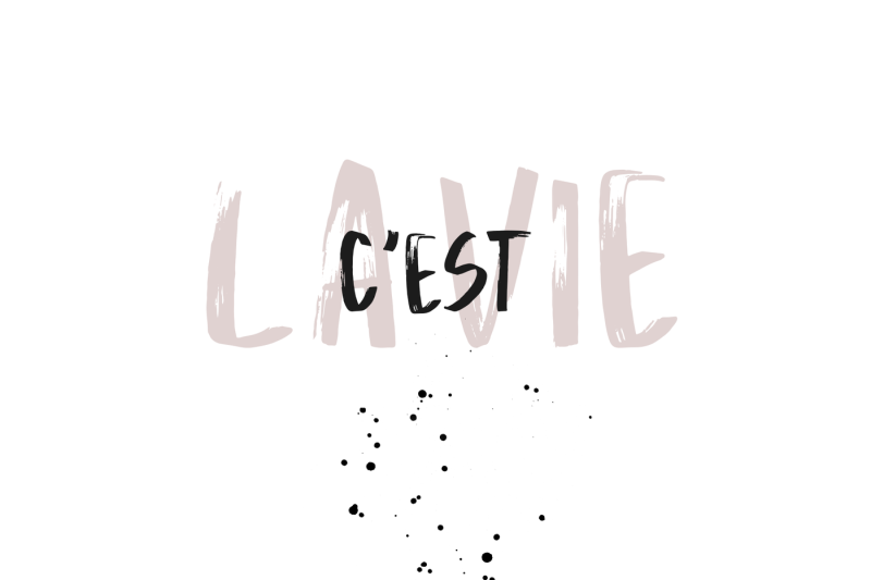 la-vie-handwritten-brush-font