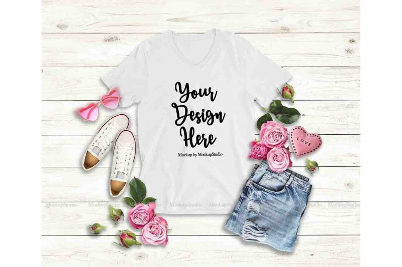 valentine-s-day-women-t-shirt-mock-up-white-bella-canvas-3005-mockup