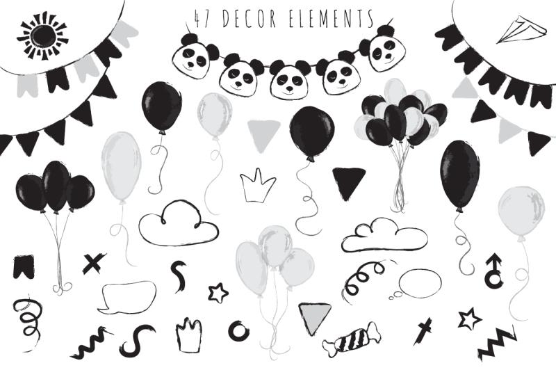 panda-party-cute-set