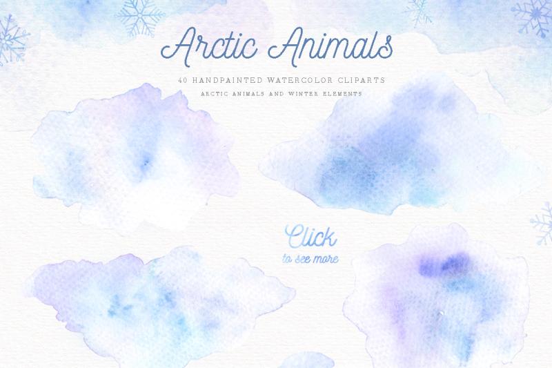 arctic-animals-watercolor-clip-arts