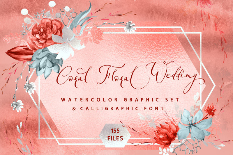coral-floral-wedding-graphic-amp-font