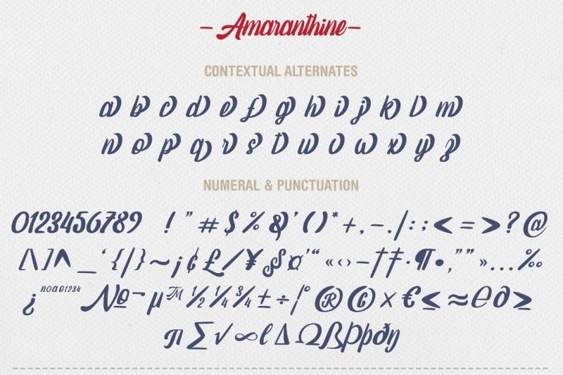 amaranthine-script