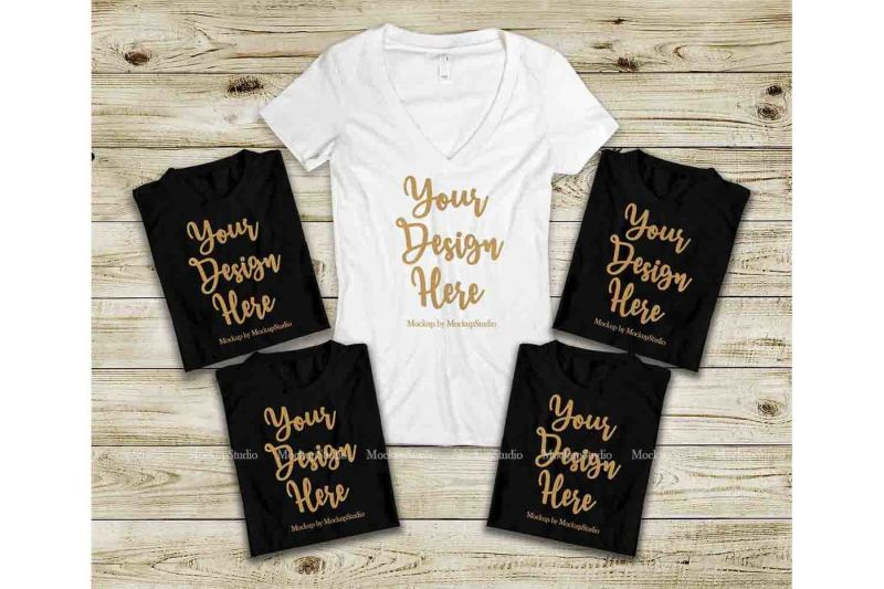 Free Bridal Squad T-Shirts Set, Bachelorette Party Shirts Mockup (PSD Mockups)