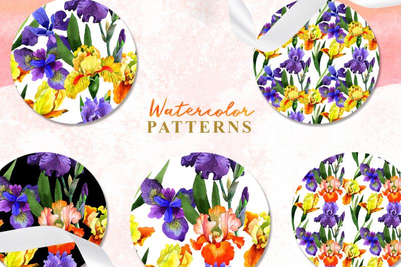 yellow-irises-watercolor-png