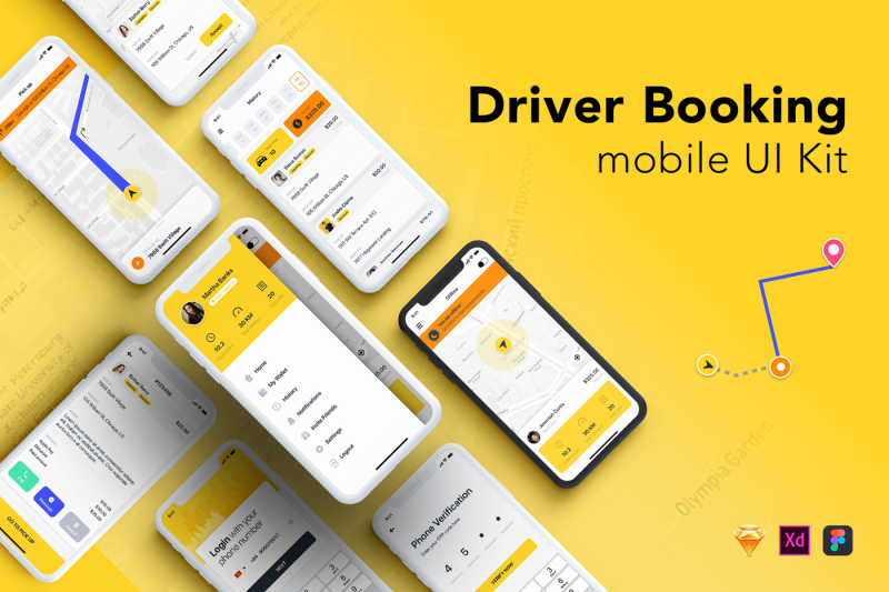 taxi-driver-booking-ui-kit