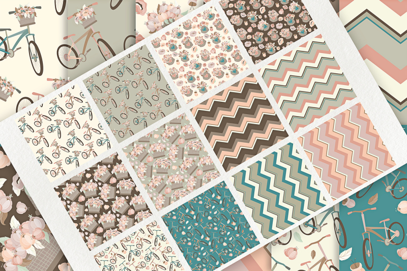 bicycles-07-seamless-patterns-and-digital-papers