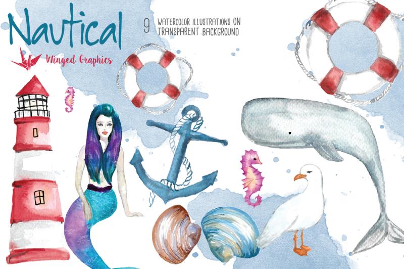 nautical-watercolor-illustration-set