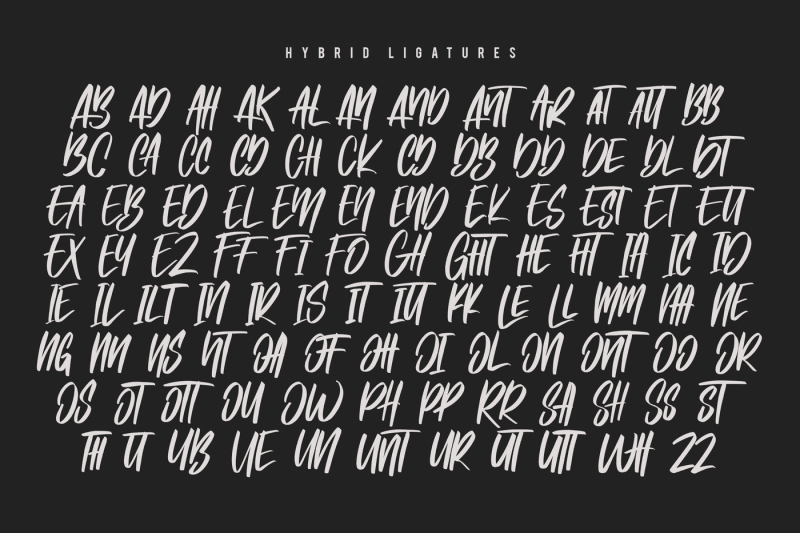 hybrid-brush-font