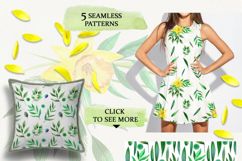 watercolor-sunny-daffodils