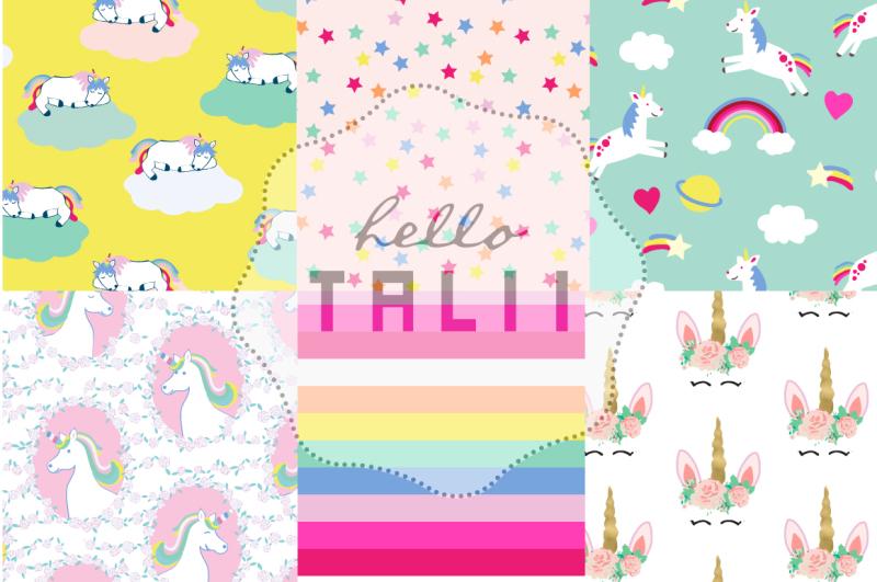 unicorns-and-rainbows-digital-paper