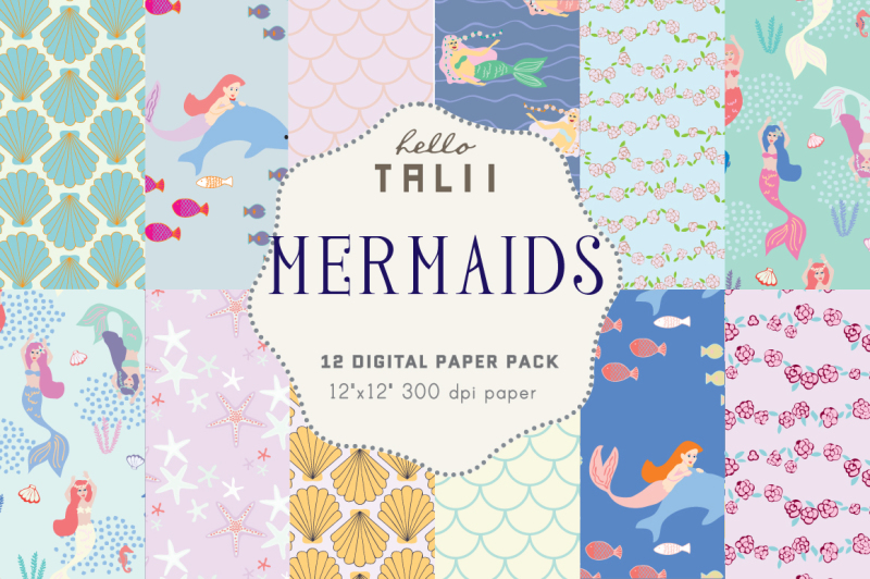 mermaids-digital-paper