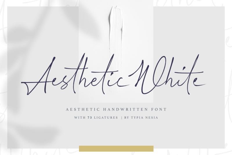 aesthetic-white-handwritten-font