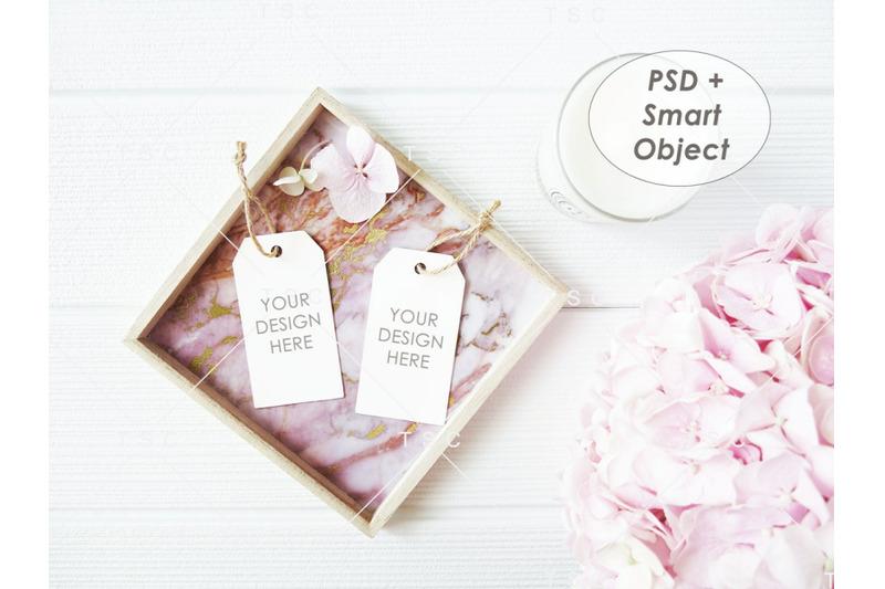 Free Gift Tag / Thank You Tag / Product Tag Mockup (PSD Mockups)