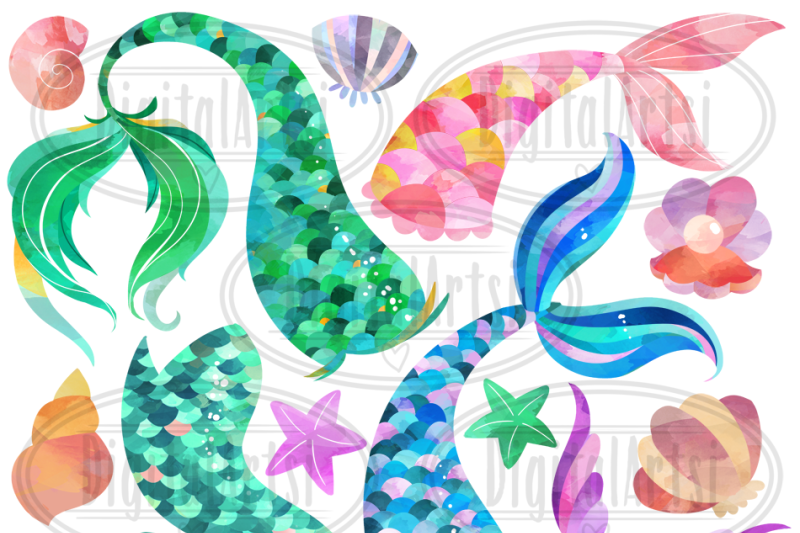 watercolor-mermaid-tails-clipart
