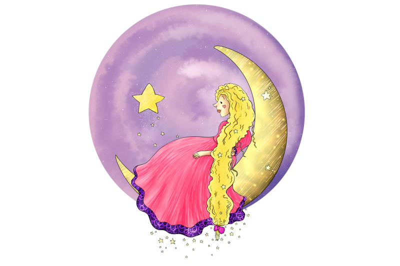 princess-on-the-moon-clip-art-illustration-jpg-png