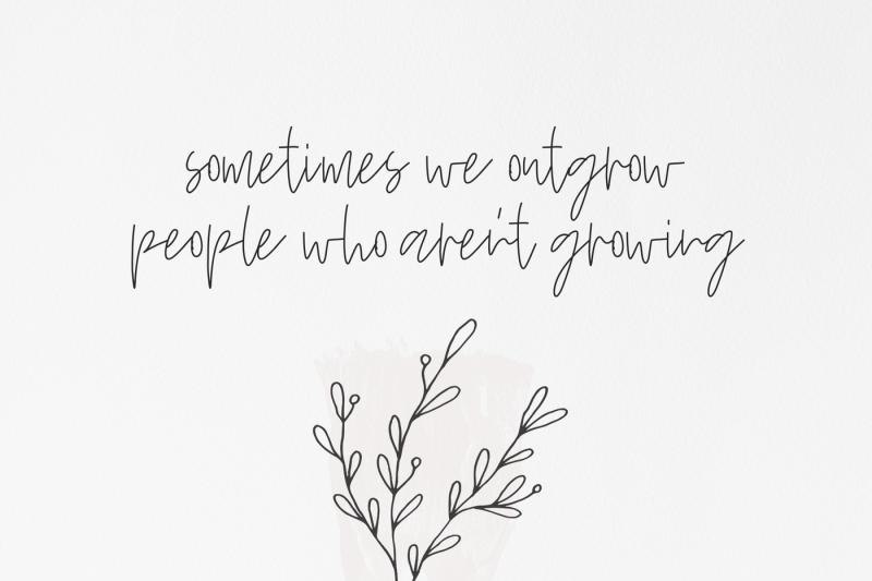 wildflowers-a-handwritten-script-font