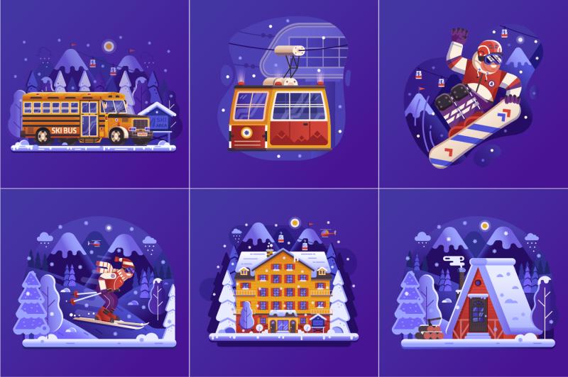 winter-ski-resort-web-illustrations