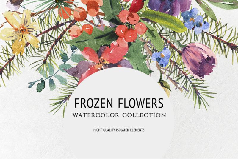 frozen-flowers-watercolor
